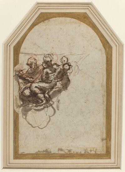 Correggio, 'Saint Matthew and Saint Jerome [verso]', 1523/1524