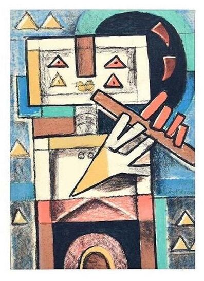 Ibrahim Kodra, 'Flute Player', 1975