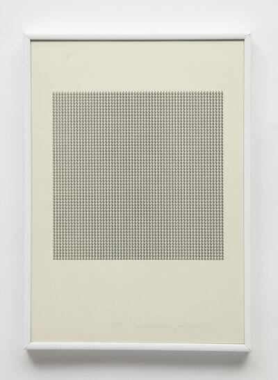 """Maurizio Nannucci, 'Dattilogramma """"à""""', 1964"""