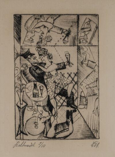 Otto Dix, 'ERINNERUNG AN DIE SPIEGELSÄLE VON BRÜSSEL', 1920
