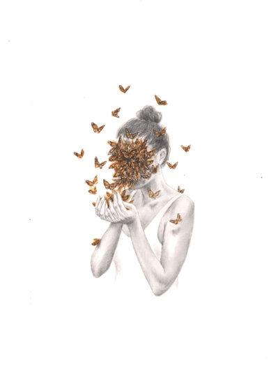Rachel Goodyear, 'Butterflies (study)', 2021