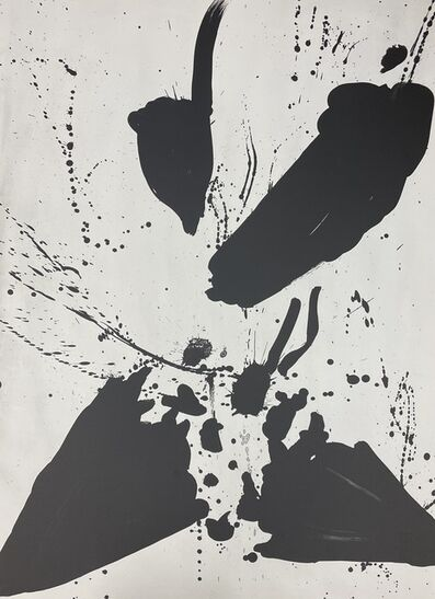 """Walasse Ting, 'Unsigned states for the lithographs """"Star Umbrella""""  (Black #7)', 1967"""