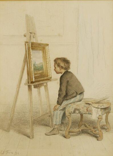 Pierre Édouard Frère, 'The art critic', 1874