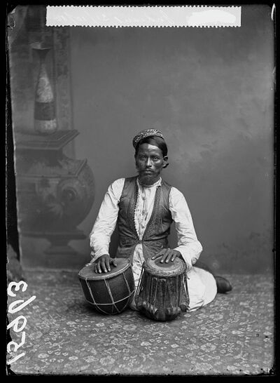London Stereoscopic Co., 'Tabla Player', 1885