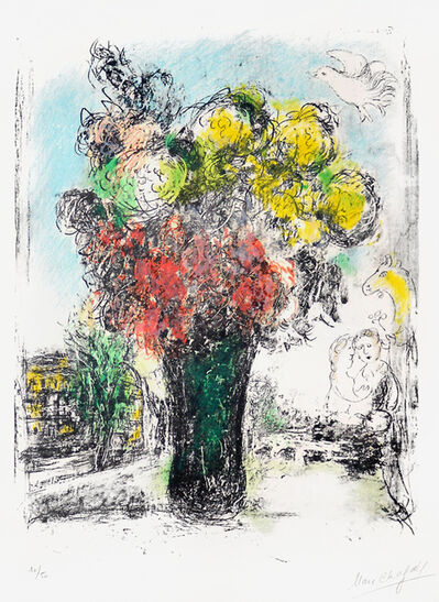 Marc Chagall, 'Le Bouquet Rouge et jaune (Red and Yellow Bouquet)', 1974