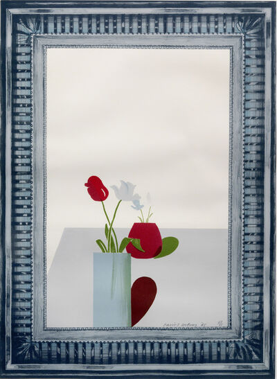David Hockney, 'Picture of a still life in an elaborate silver frame', 1965
