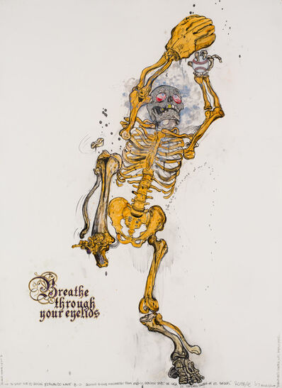 Robbie Conal, 'Fernando Valenzuela (Breathe Through Your Eyelids)', 2007