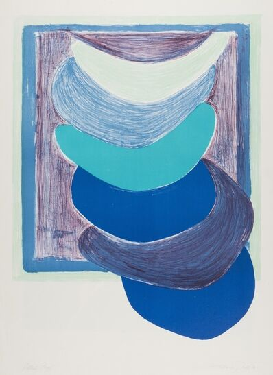 Sir Terry Frost, 'Blue Suspended Form (Kemp 54)', 1970