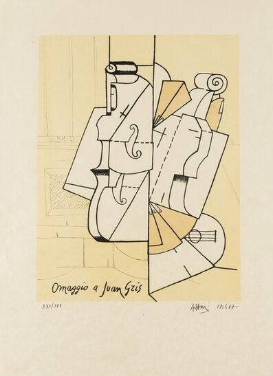 Valerio Adami, 'Omaggio a Juan Gris', 1967