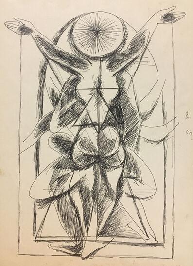 Gulam Rasool Santosh, 'Untitled (Tantric Drawing 4)', ND