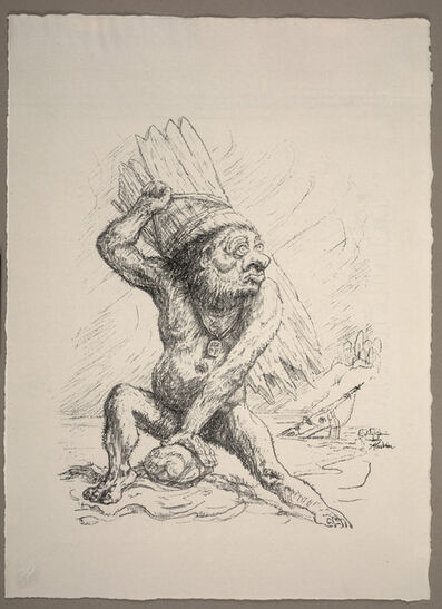 Alfred Kubin, 'Caliban, plate 26 from Visions of Shakespeare (Shakespeare Visionen)', 1918