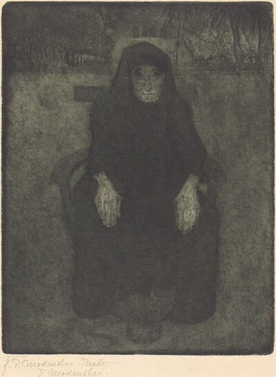 Paula Modersohn-Becker, 'Old Woman', posthumous printing after 1919 by Felsing