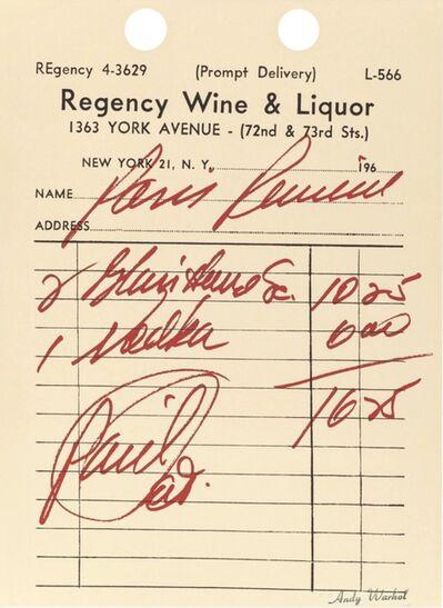 Andy Warhol, 'Paris Review (II.18, Feldman & Schellman) ', 1967