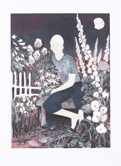 Hernan Bas, 'The Albino in the Moonlight Garden', 2010