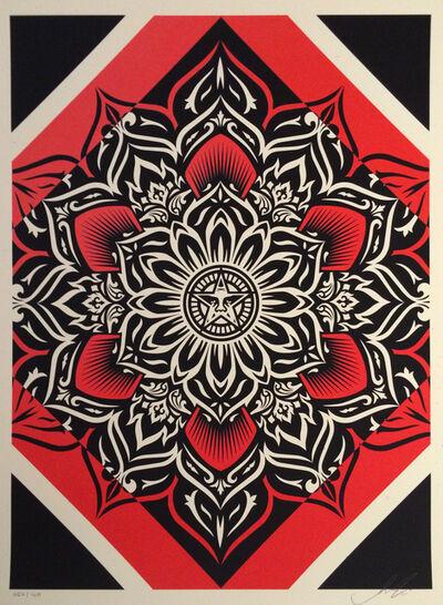 Shepard Fairey, 'Lotus Diamond Red', 2011