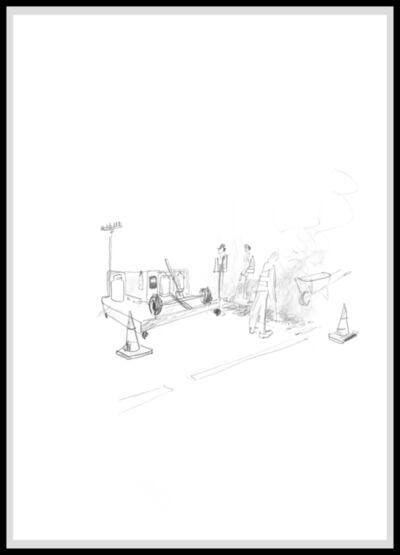 Ragnar Kjartansson, 'Inferno Drawing p. 129', 2016