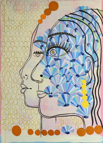 Louise Allen, 'Blue Faces', 2020