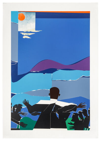 Romare Bearden, 'Martin Luther King Jr. - Mountain Top', 1968