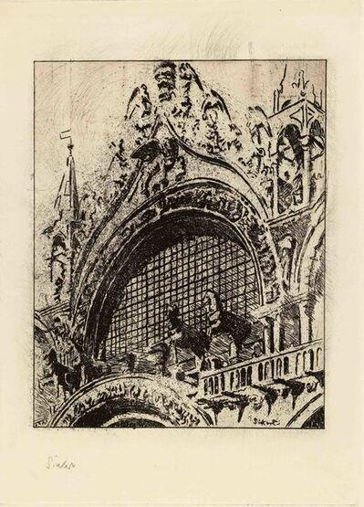Walter Sickert, 'The Horses of St Mark's', 1902