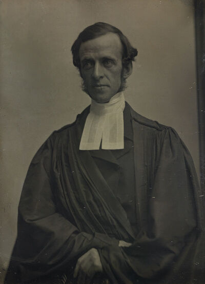 Southworth & Hawes, 'Half-plate daguerreotype of a cleric. Framed', 1850