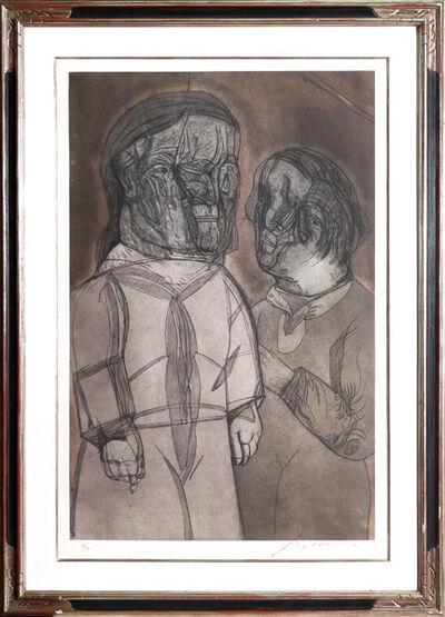 Jose Luis Cuevas, 'Justine y el Marquez de Sade from Intolerance', 1989