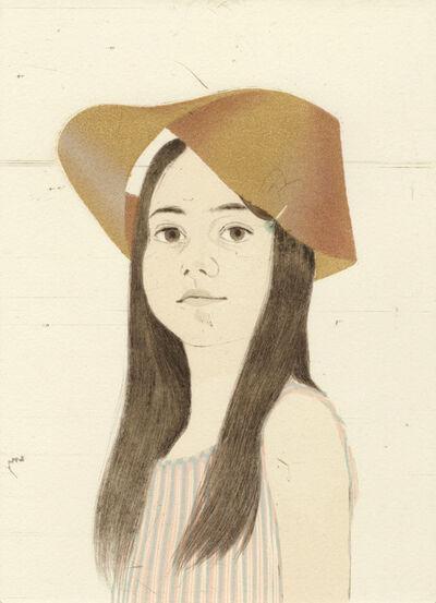Ellen Heck, 'Holly Wearing a Möbius Strip as a Hat', 2016
