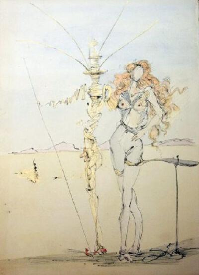 Salvador Dalí, 'La Femme aux Cheveus d'or et son Garde, 1967', 1967