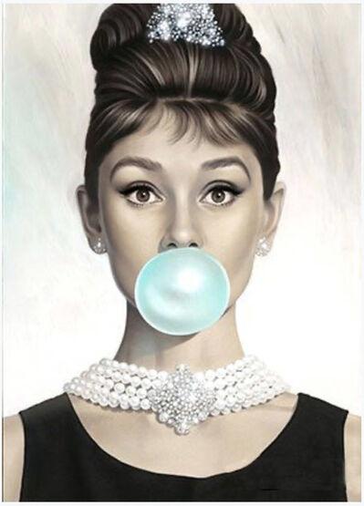 Michael Moebius, 'Audrey Hepburn Tiffany Blue', 2016