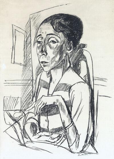 Max Beckmann, 'Bildnis der Tänzerin Sent M'Ahesa', 1921
