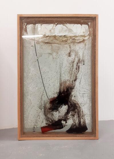 Vivien Roubaud, 'Feux d'artifice, gel de pétrole dégazé cinquante degré, combustion incomplète, verre feuilleté, frêne', 2018