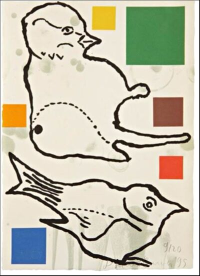 Donald Baechler, 'Birds ', 1995