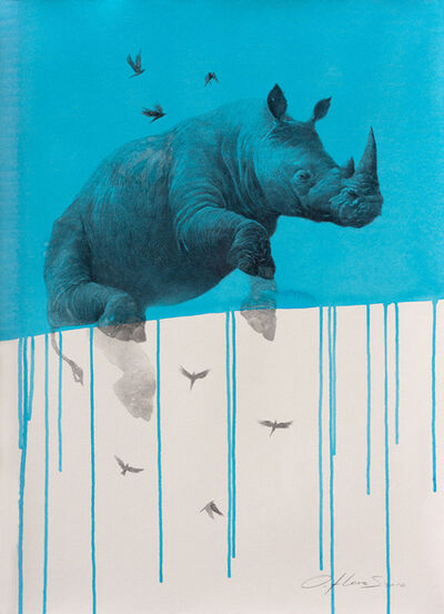 Oliver Flores, 'Jouney No. 4 - Blue Rhino', 2016