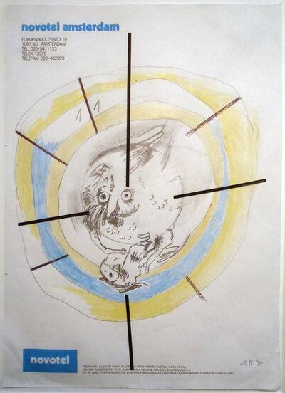 Martin Kippenberger, 'HOTEL DRAWING (NOVOTEL AMSTERDAM)', 1990
