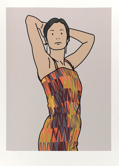 Julian Opie, 'Anya with cocktail dress. 2005', 2005