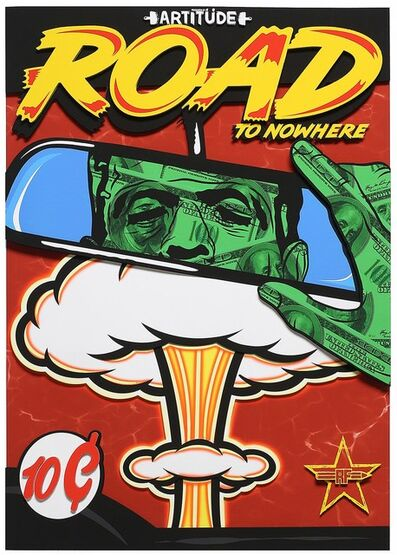 Rf Art, 'Road to Nowhere (Street Art, Pop Art, Frankenstein, Comic, Nuclear, Mushroom)', 2021