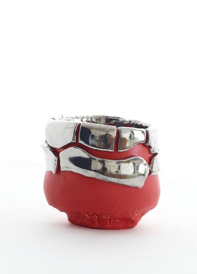 Takuro Kuwata 桑田卓郎, 'Red tea bowl with platinum glaze', 2012