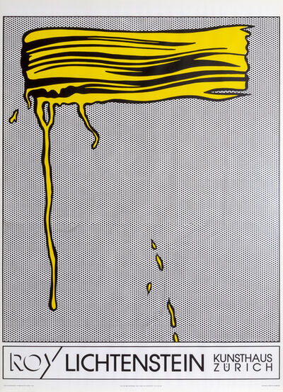 Roy Lichtenstein, 'Yellow Brushstroke', 1990