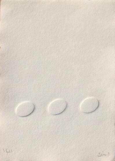 Turi Simeti, '3 ovali bianchi', 2018