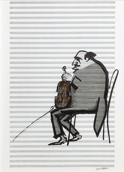 Saul Steinberg, 'Violinist from Derrière le Miroir ', ca. 1965