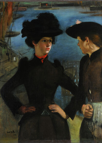William Rothenstein, 'Coster Girls', 1894