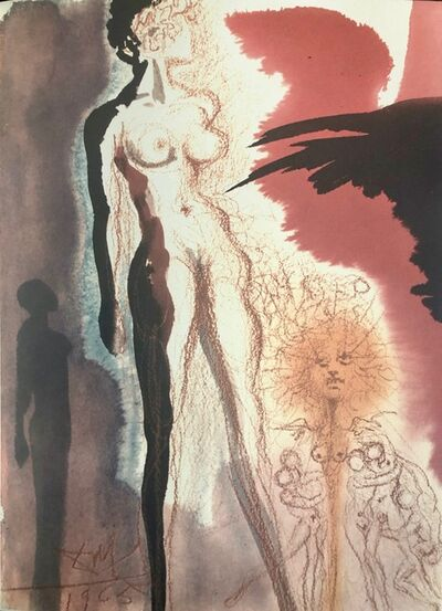 Salvador Dalí, 'Lot's Wife, Turned into a Statue of Salt, 'Uxor Lot in Statum Salis Conversa', Biblia Sacra', 1967