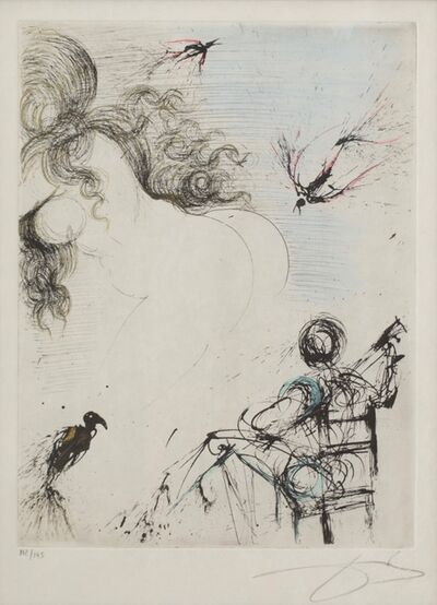 Salvador Dalí, 'Femme au Perroquet (Woman with parrot; from Peomes Secrets by Apollinaire)', 1967