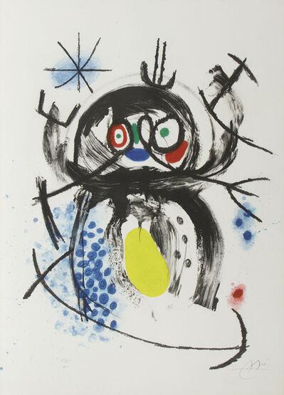 Joan Miró, 'L'Automobiliste a Mustaches', 1970