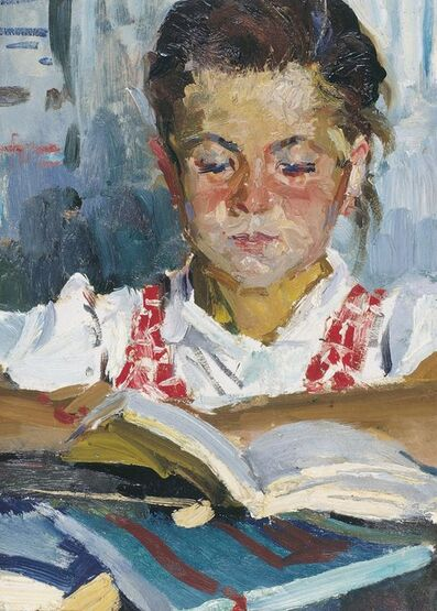 Pavel Fedorovich Shardakov, 'Girl reading', 1959