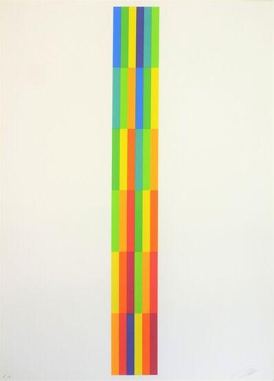 Richard Paul Lohse, ' Vertikal Serielle Struktur', 1980