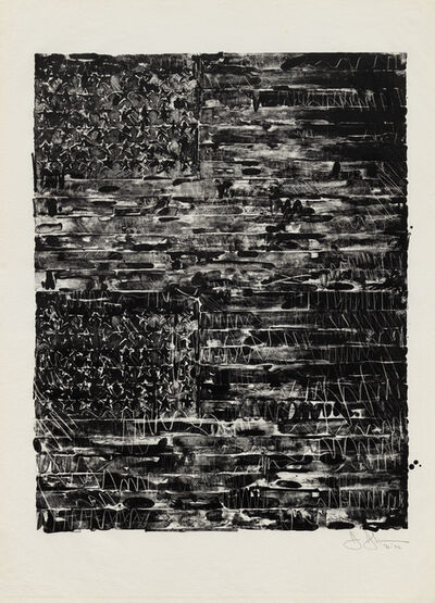 Jasper Johns, 'Two Flags', 1972