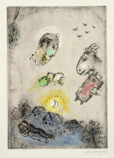 Marc Chagall, 'Der Esel über dem Dorf (The Donkey Above the Village)', 1951