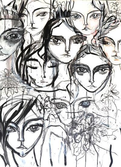 Sasha Pivovarova, 'Faces and Flowers', 2018