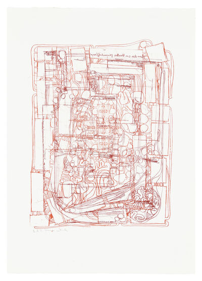 """Hermann Nitsch, 'Aus der Serie """"Die Architektur des Orgien Mysterien Theaters"""" Ergänzung zu Mappe I', 1987"""