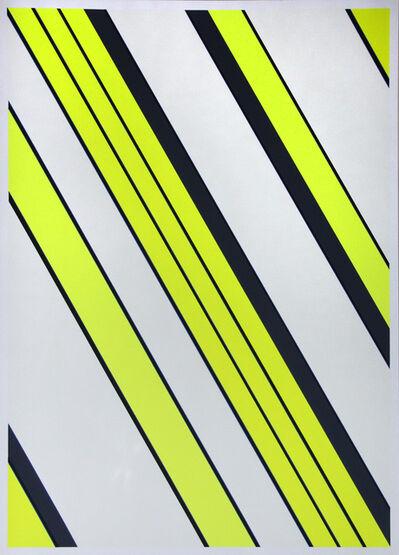 """Günter Fruhtrunk, 'aus der Mappe """"Farbbewegungen""""', 1969"""